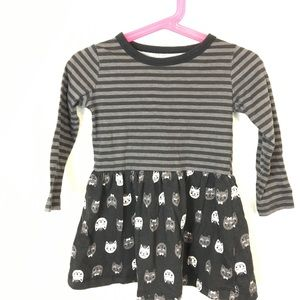 Kids Korner Kute Kitty Dress Sz 2T Black & Gray